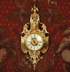 Antique Wall Clock French Gilt Bronze By Y Freres